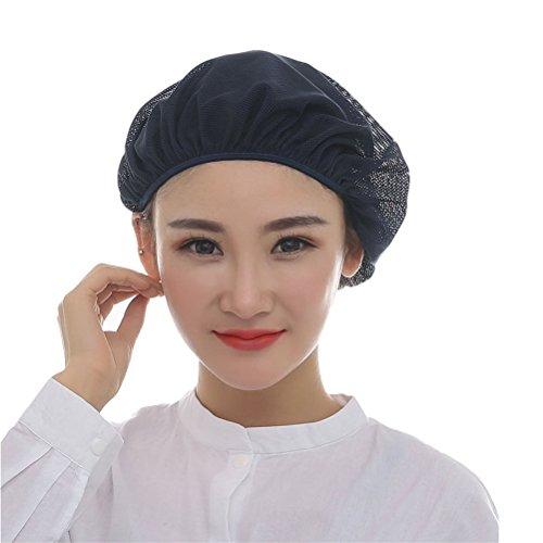 Nanxson(TM) 5x Unisex Mob Caps Mesh Industrial Workshop Protective Working Elastic Kitchen Hats Hair Net CF9023 (Navy Blue) by Nanxson