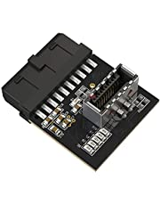 LINKUP - [Active Chip] USB 3.0 (3.1 Gen 2) Internal IDC 20 Pin Motherboard Header to A-Key 20Pin Female Header Converter for Type C Panel Mount Adapter