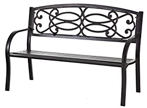 Evergreen Trellis Cast Iron Garden Bench
