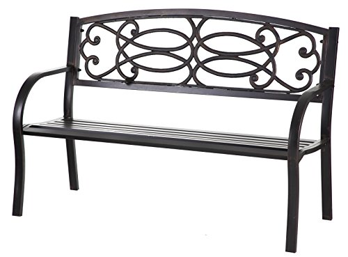 Cape Craftsmen Outdoor Safe Trellis Cast Iron Garden Patio Bench