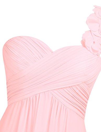 iEFiEL Vestido Largo para Mujer Dama de Honor Chica Vestido de Fiesta Cóctel Espalda al Aire Rosa de Perla
