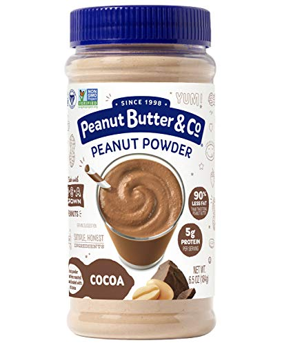 Calories Peanut Butter - Peanut Butter & Co. Cocoa Peanut Powder, Non-GMO Project Verified, Gluten Free, Vegan, 6.5 oz Jar