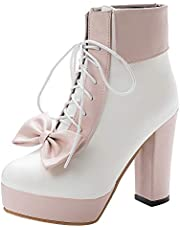 JOJONUNU Women Sweet Lolita Shoes Platform High Heels