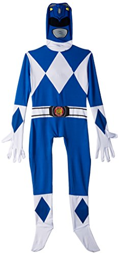 Official Blue Power Ranger Morphsuit Costume - X-Small 3'6-3'11 (105cm - 119cm)