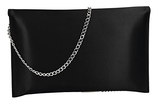 MADE woman ITALY clutch ceremonies Purse black IN envelope VN2027 for pochette CU5wq