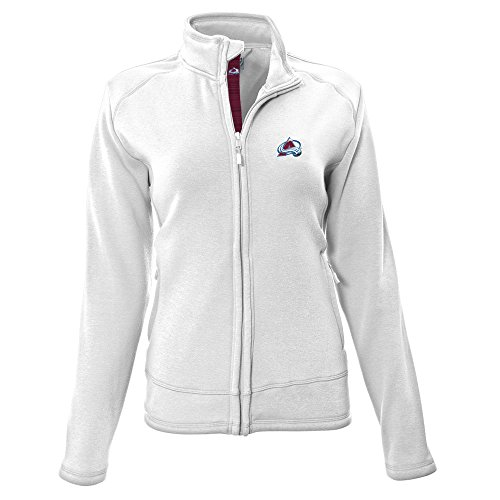 NHL Colorado Avalanche Adult Women Tranquil Insignia Icon Heather Full Zip Jacket, Medium, White