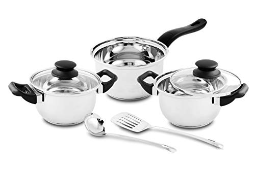 Classic Essentials Stainless Steel Marvel Cookware Set, 7 Piece, Silver