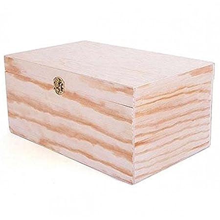 Caja de Madera de Pino Macizo para Decorar de 36x23,5x17,5 cm con ...