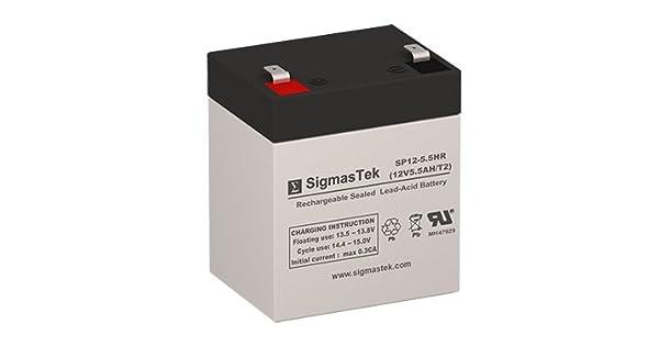 Amazon.com: SP12 – 5.5HR 12 Volt 5,5 Amph SLA Batería con ...