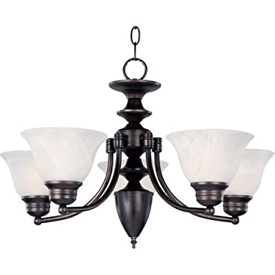 Maxim Lighting Five Light Marble Glass Up Chandelier