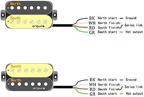 cr/ème Oripure faite /à la main Alnico 5/Pickup Lot de 50/mm Manche de guitare et pont Micros pour guitare /électrique Style P90/suppl/émentaire