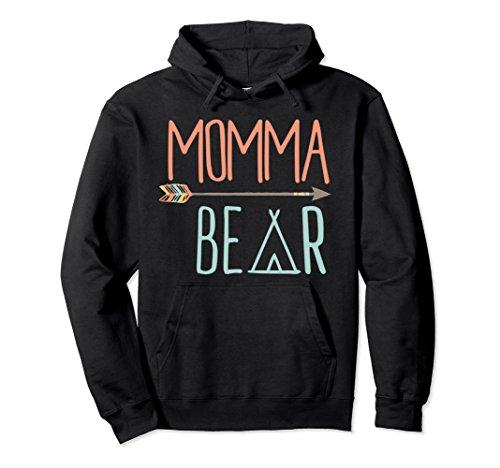 Unisex Cute Momma Bear Hoodie Mom Hoodie XL: (Black Bear T-shirt Sweatshirt)