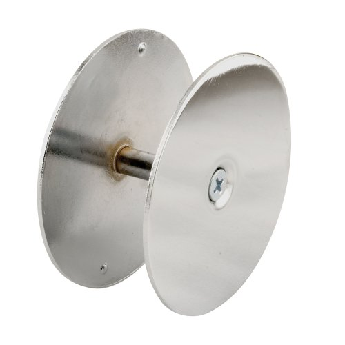 Prime-Line U 9531 Hole Filler Plate, 2-5/8 in Dia, for Use with 1-3/4 in T Doors, Steel