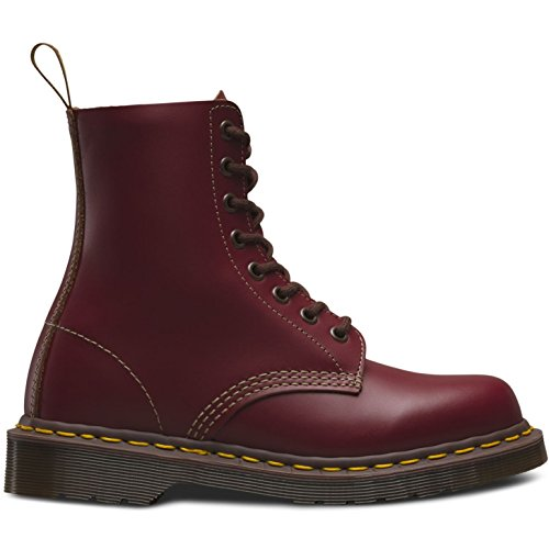 Dr. Martens 1460Z Vintage 8 Eye Boot BLACK Stivaletti, Unisex Adulto Oxlood Quilon