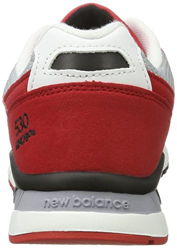 New Balance Men's M530pib Fashion Sneaker, White/Grey, 11.5 D US Red (Red)