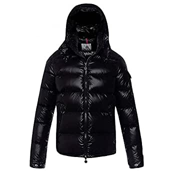MAZF Winter Men Down Jackets Shiny Down Coat Boys Hooded