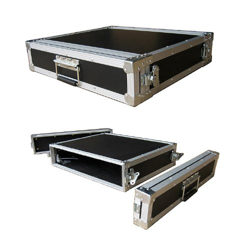 2 Space 2u 16 Inches Deep Medium Duty 1/4 Inch ATA Effects Rack Case - Closeout by Roadie Products, Inc.