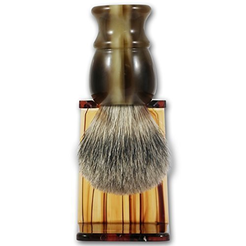 Executive Shaving Best Badger Hair Shaving Brush With Imitation Horn Handle And Drip Stand The Executive Shaving Company