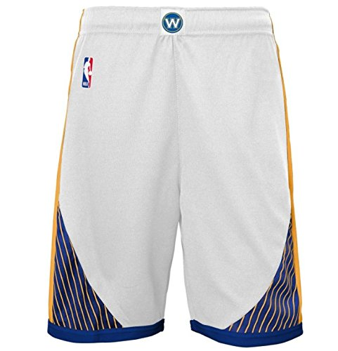 Youth Home Replica Basketball Shorts (OuterStuff NBA Golden State Warriors Youth Boys 8-20 Replica Home Shorts, Medium (10/12), White)