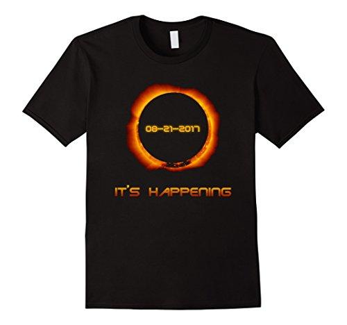 Mens Total Solar Eclipse T Shirt Summer August 21st 2017 XL Black