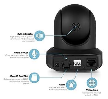 Amcrest Hdseries 720p Wifi Ip Video Security Surveillance Camera, Plugplay, Pantilt, Two-way Audio & Night Vision Ipm-721b (Black) 16