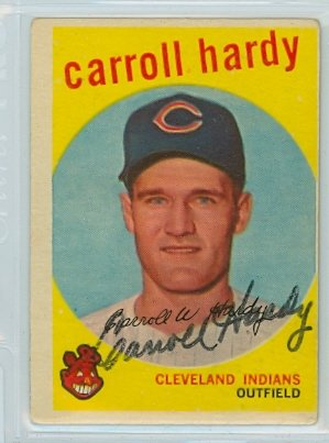 Carroll Hardy AUTOGRAPH 1959 Topps #168 Cleveland Indians