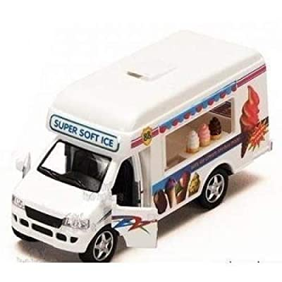 KinsFun Pullback Action Ice Cream Vending Truck: Toys & Games