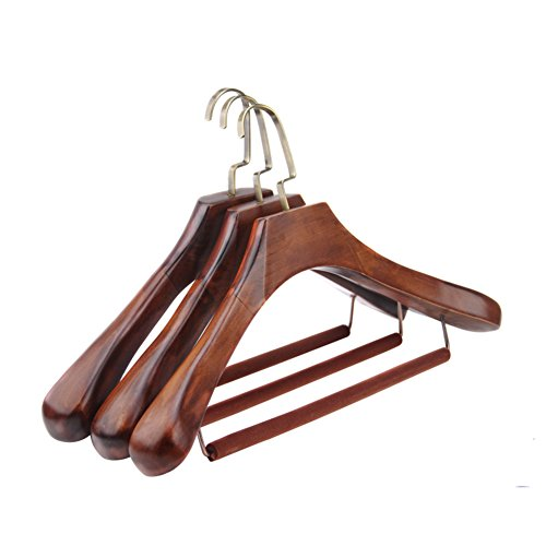 vintage solid wood coat hanger/clothes shop clothes hanger/wooden coat rack pack of 3-A by LWZY Hangers