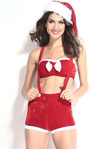 Peachi Women's Sleeveless Cute Joyful Xmas Costume (Pack of Three) ()