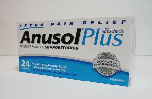 ANUSOL PLUS 24 suppositoires hémorroïdaux