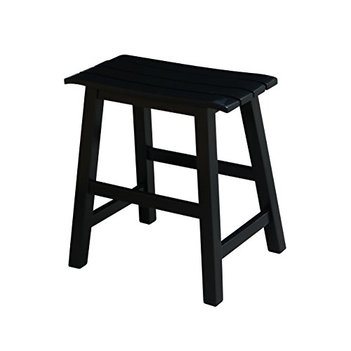 International Concepts Saddle (International Concepts Slat Seat Stool, 18-Inch Seat Height, Black)