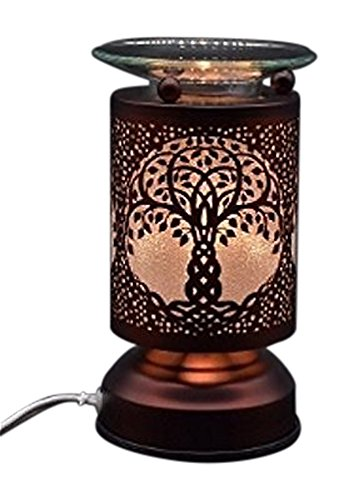 - New Electric Touch Fragrance Aromatherapy Lamp Oil Warmer Tree Of Life Design