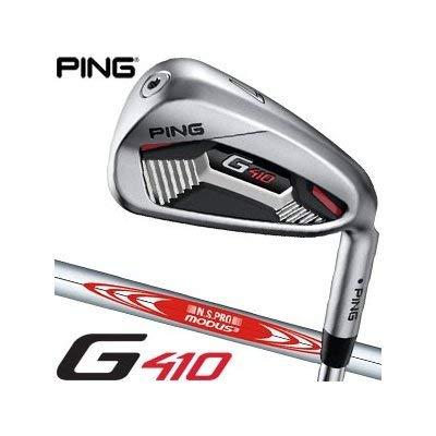 [ピン] G410 アイアン N.S. PRO Modus3 Tour105 スチールシャフト 6本セット[#5-P] 標準グリップ アイアンカラーコード:ブラック 左用