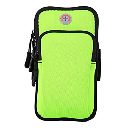 new concept c3439 0e331 Aeoss Waterproof Sport Armband Unisex Running Jogging Gym Arm Band Case  Cover for Mobile iPhone 6s 6 Plus Phones Till 5.7 inches (Parrot Color)