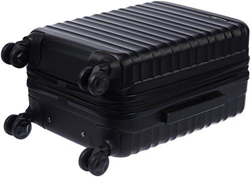 AmazonBasics Hardside Carry-On Spinner Suitcase Luggage - Expandable with Wheels - 21 Inch, Black