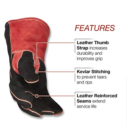 """Lincoln Electric Traditional MIG/Stick Welding Gloves 