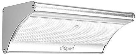 Elitexcel Super Bright 48 LED Outdoor Solar Floodlights, IP65 Waterproof Aluminum Alloy Housing, 900 Lumens Max, 6000K Daylight White, Radar Motion Sensor for Yard Driveway Garage Security