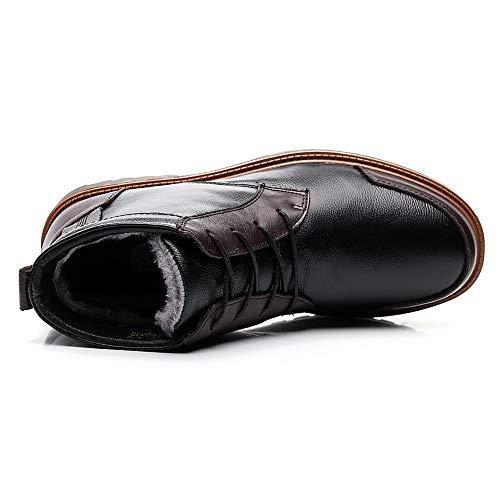 Foderato Di Uomo Resistente Pelliccia Nero Stivali Comfort Combattimento Shenn amp;marrone Indossare Da Caviglia qwExnC
