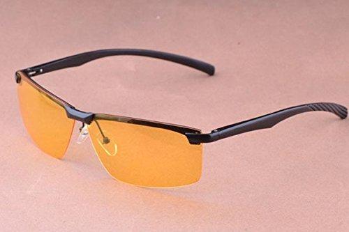 Polarized Night Vision Glasses Driving Goggle Sunlasses Aviation Color - Sunlasses