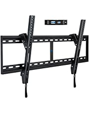 Mounting Dream Tilt TV Wall Mount Bracket for 42-84 Inch LED, LCD Flat Screen TVs, TV Mount up to VESA 800 mm and 132 LBS, One-Piece Wall Plate Easy for TV Centering on 16''~32'' Wood Studs MD2268-XL-04