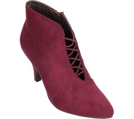 Fashion Womens Rialto Fabric Boots Bordeaux Almond Ankle Toe MAXINE RYgw6