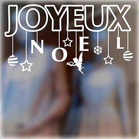 zaosan Francés Joyeux Noel Etiqueta de la Pared decoración ...