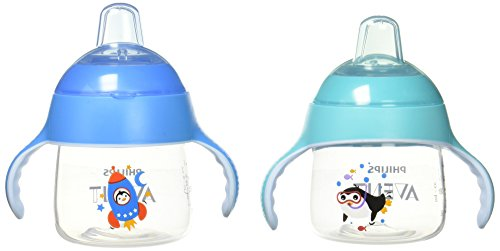 Philips Avent My Little Sippy Cup, Teal/Blue, 7oz, 2 Piece (Best Sippy Cup For 14 Month Old)
