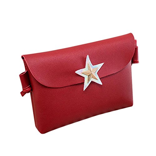 Phone Satchel Red Pure EUzeo Color Bag Women Crossbody Tote Bag Messenger Bag Shoulder aq11vn7S