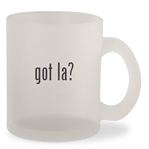 got la? - Frosted 10oz Glass Coffee Cup Mug (Airline To Las Tickets Vegas)