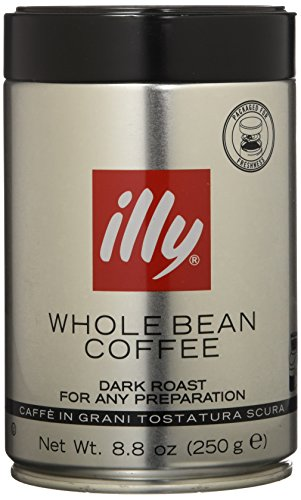 Illy Caffe Scuro Whole Bean Coffee (Dark Roast,), 8.8-Ounce Tins (Pack of 2)