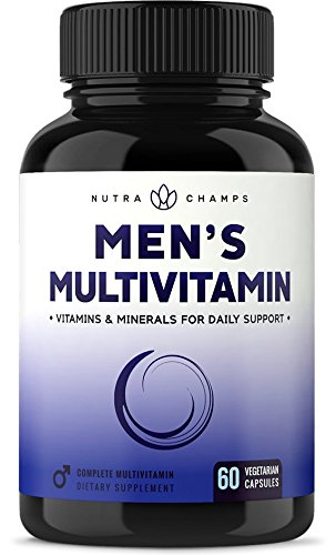 Zinc Sexual Health - Men's Daily Multivitamin Supplement - Vegan Capsules with Biotin, Vitamins A B C D E K, Calcium, Zinc, Lutein, Magnesium, Folic Acid & More - Non-GMO Multimineral Multivitamin for Men