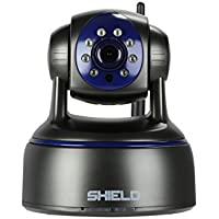 SHIELDeye HD Surveillance Security Camera, WiFi & Wireless IP Camera, Night Vision, Pan & Tilt, 2 Way Audio and Phone Remove Viewing for Pet / Baby / Elder / Nanny Monitors, Free App download - Black