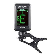 ammoon AT-04 Clip-On Automatic Digital Electronic LCD Guitar Tuner for Acoustic Electric Guitar Bass Chromatic Violin Ukulele