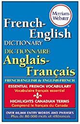 1 X MERRIAM WEBSTERS FRENCH-ENGLISH